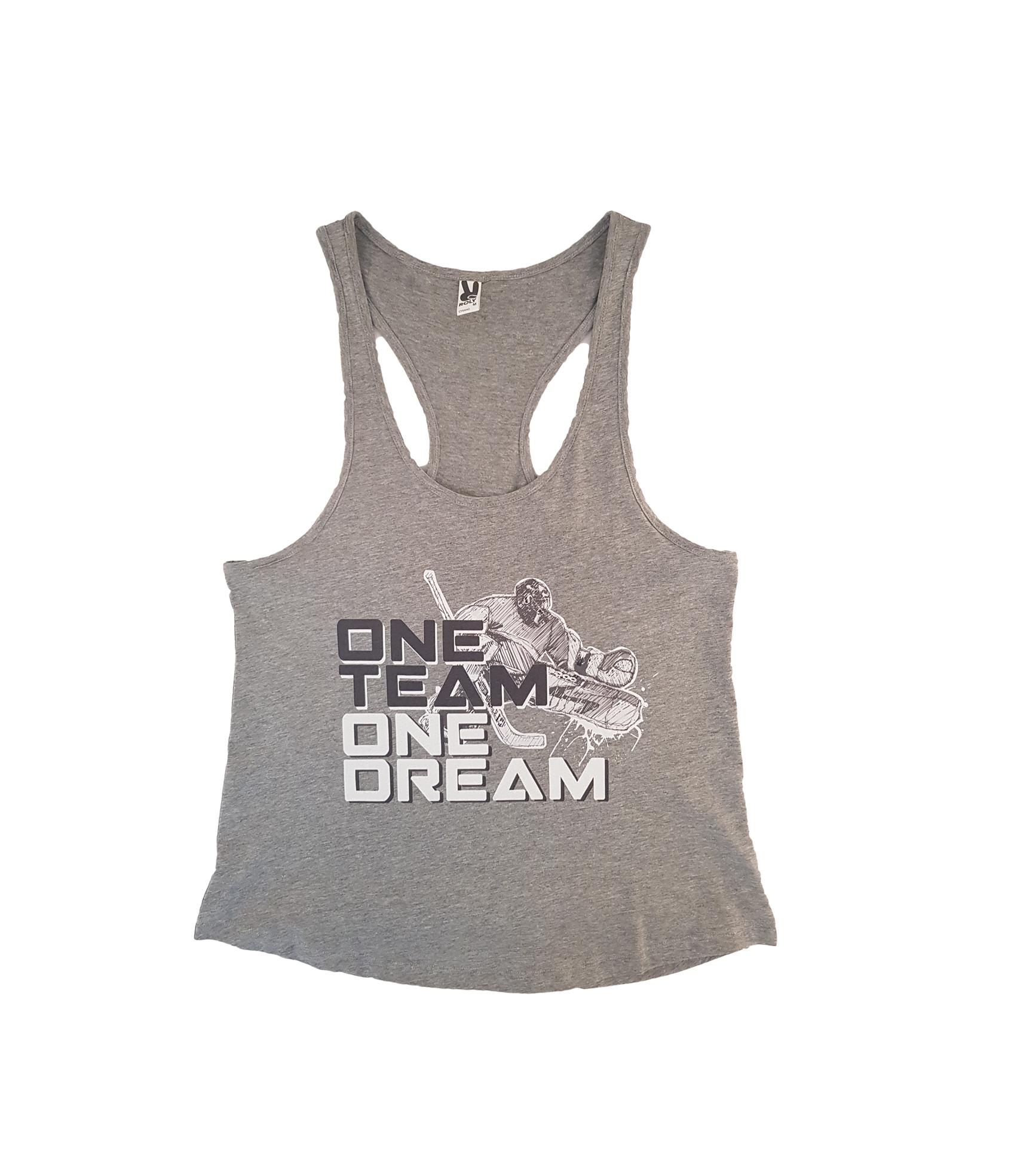 HOKEJAM.LV One Team One Dream Adult Tank Top