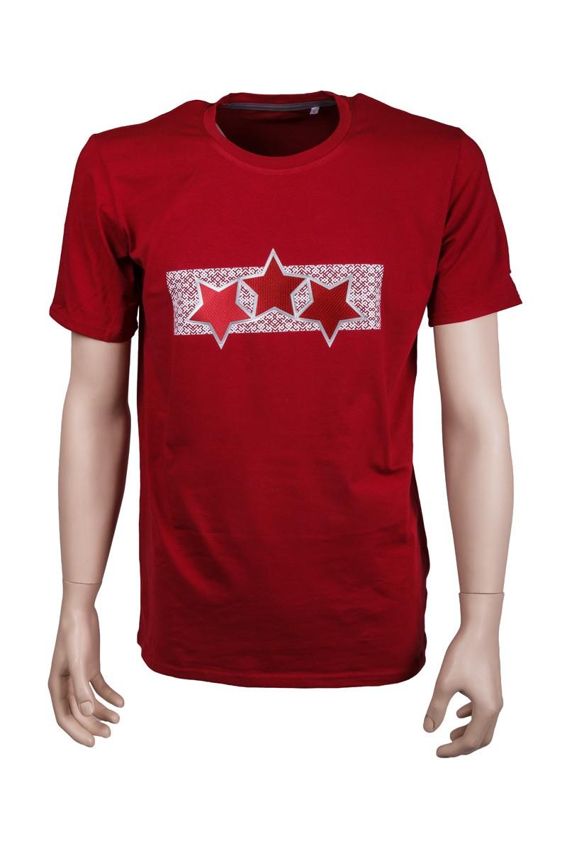 Adult Latvia Three Star T-Shirt