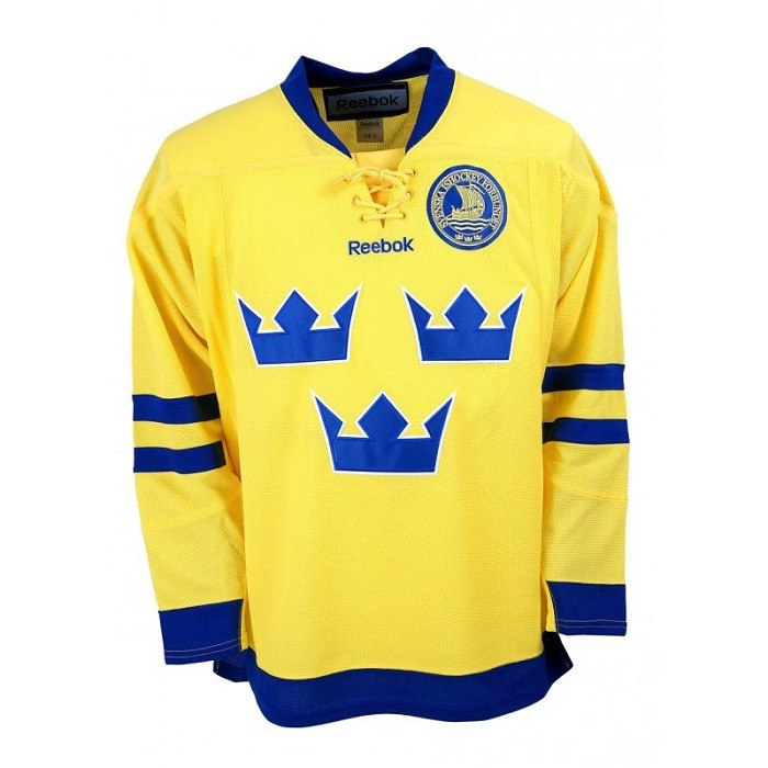 Reebok Team Sweden Adult Fan Jersey Away