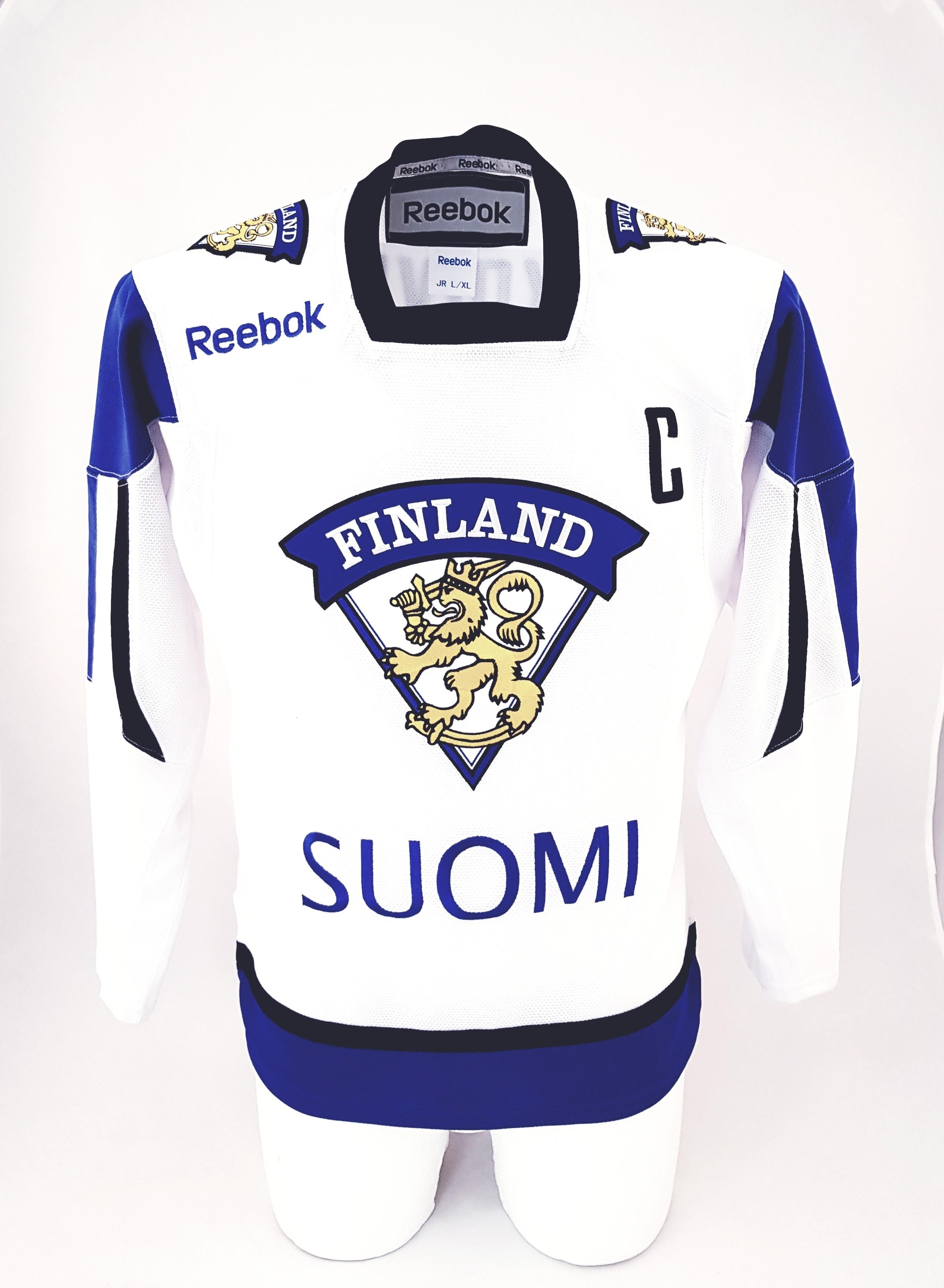 Reebok Team Finland Youth Fan Jersey Away - Koivu