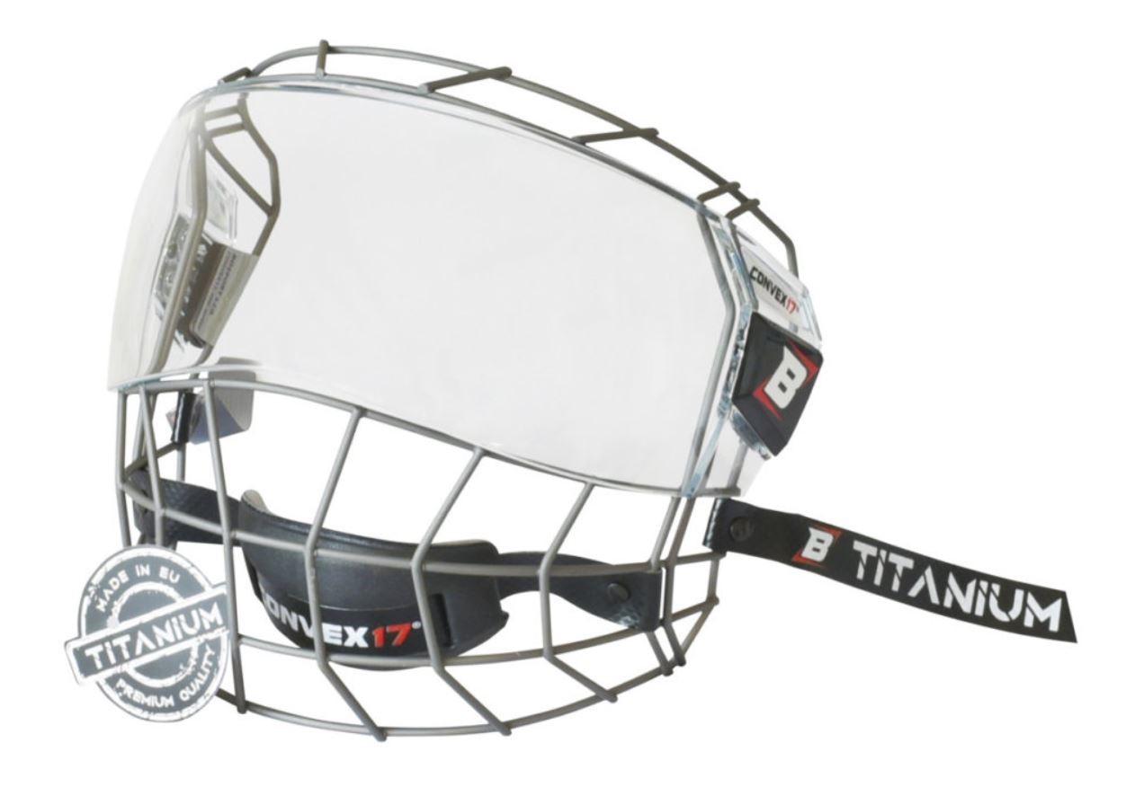 BOSPORT Convex17 Titanium Adult Full Face Protector