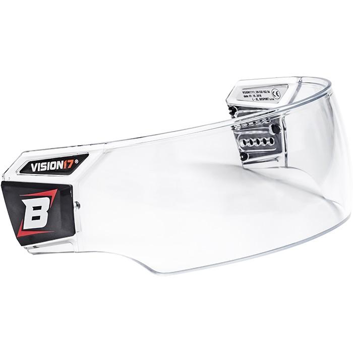 BOSPORT Vision17 Pro Hockey Helmet Visor with Cleaning Set