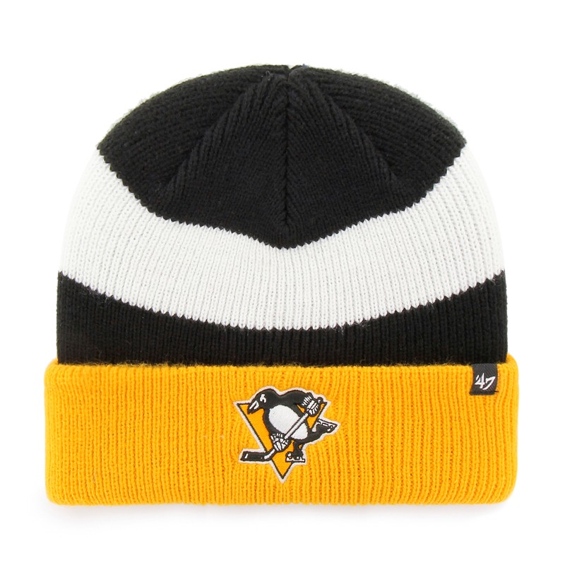 BRAND 47 Pittsburgh Penguins Short Side Cuff Knit Winter Hat