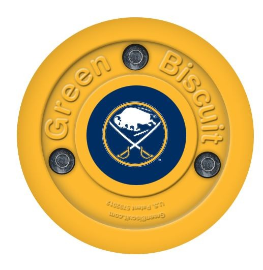 GREEN BISCUIT Buffalo Sabres Off Ice Training Hockey Puck