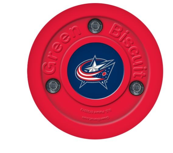 GREEN BISCUIT Columbus Blue Jackets Off Ice Training Hockey Puck