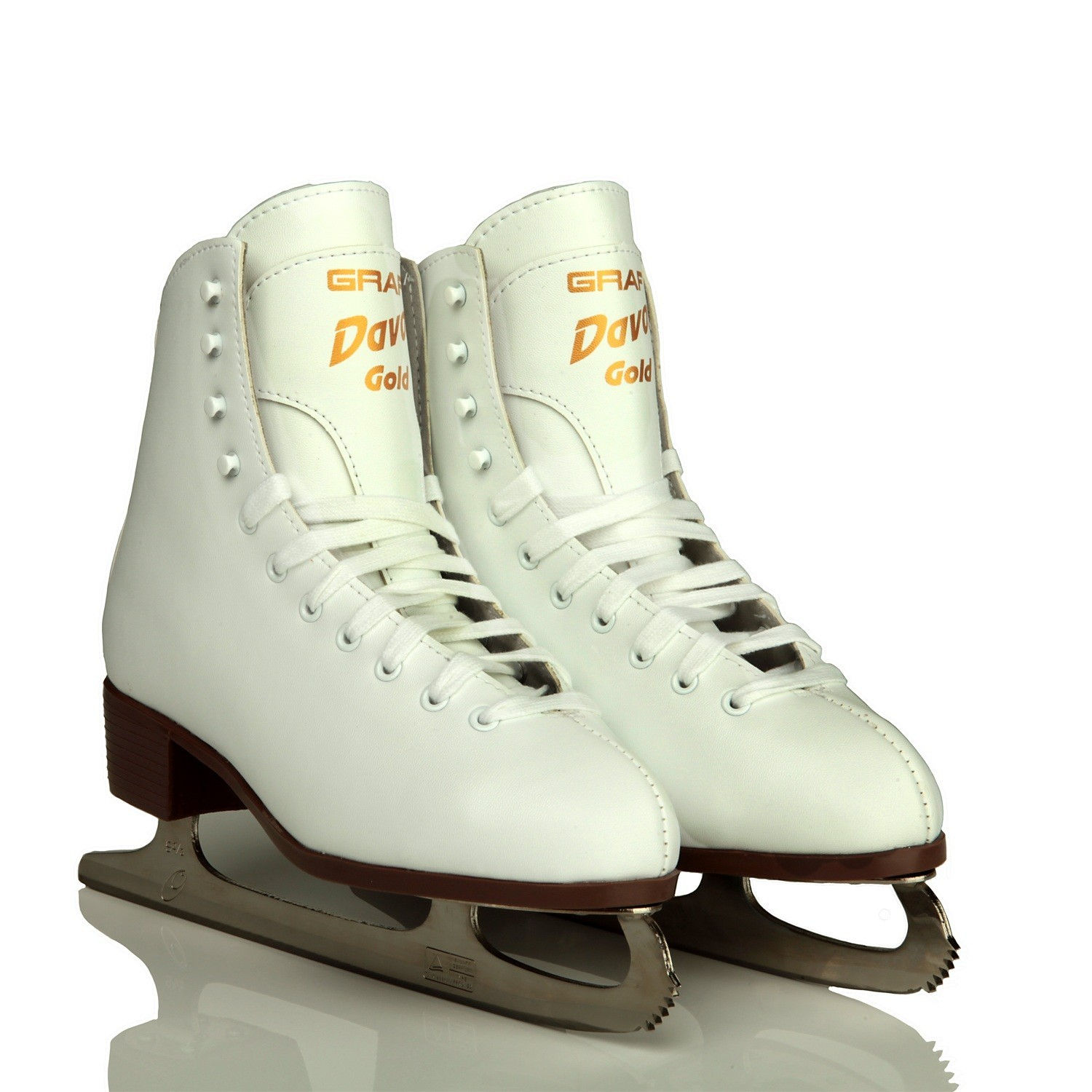 GRAF Davos Gold Girls Figure Skates