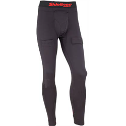 SIDELINES Youth Compression Underwear Pants with Jock