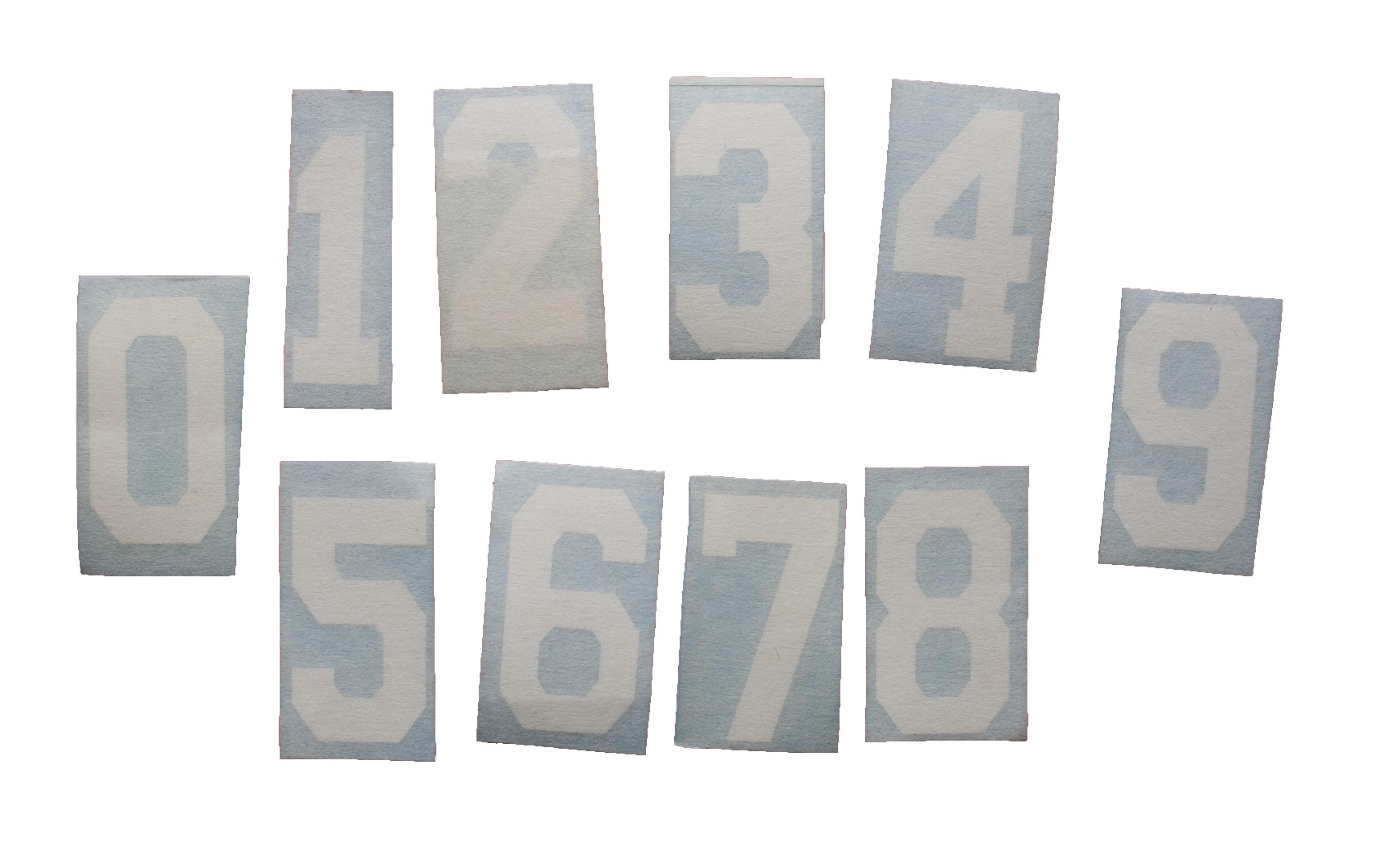 HOKEJAM.LV Helmet Number Sticker White