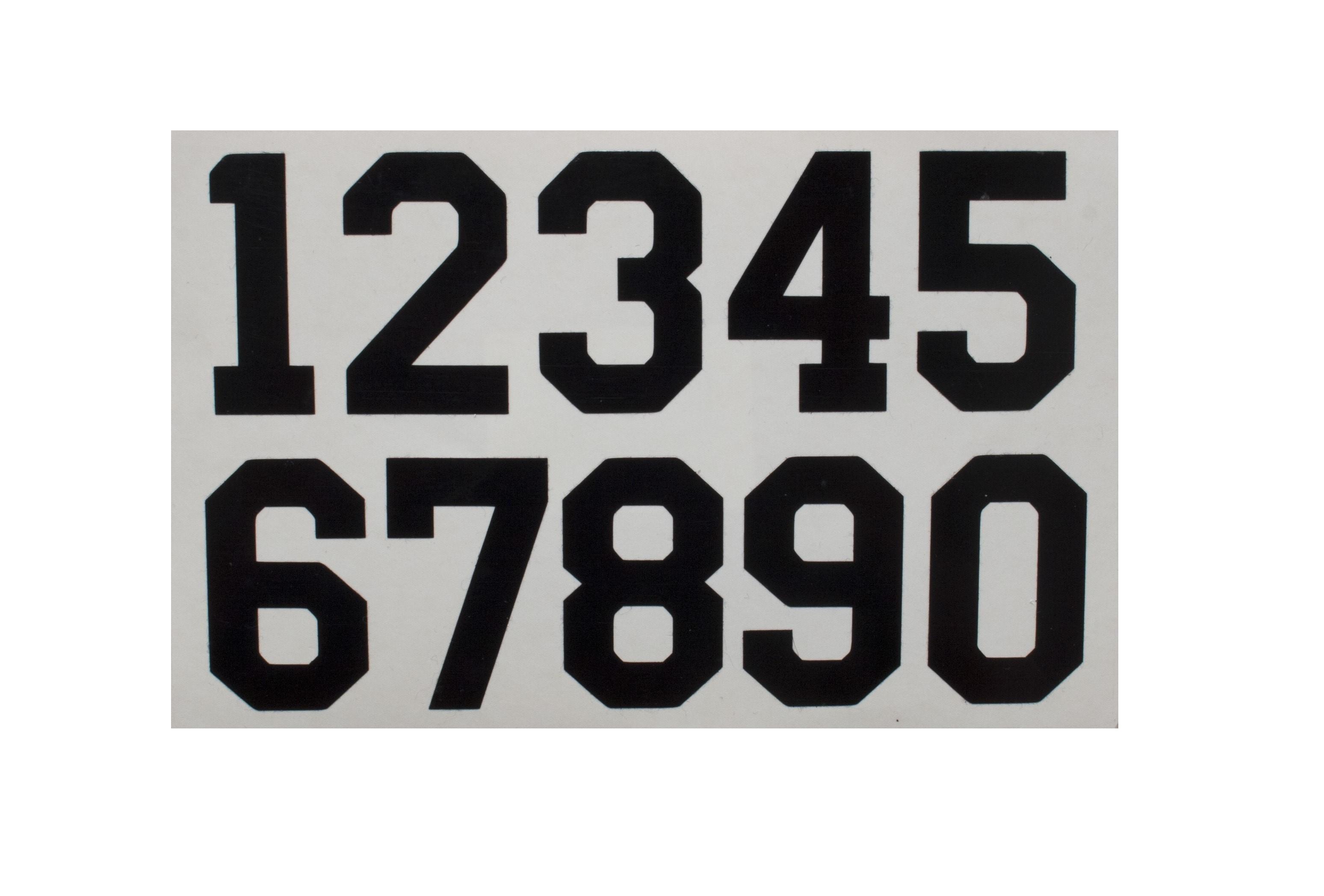 HOKEJAM.LV Helmet Number Sticker Black Set