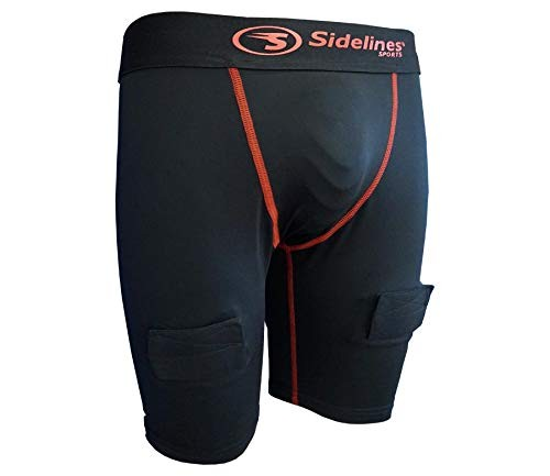 SIDELINES Adult Compression Underwear Shorts with Jock