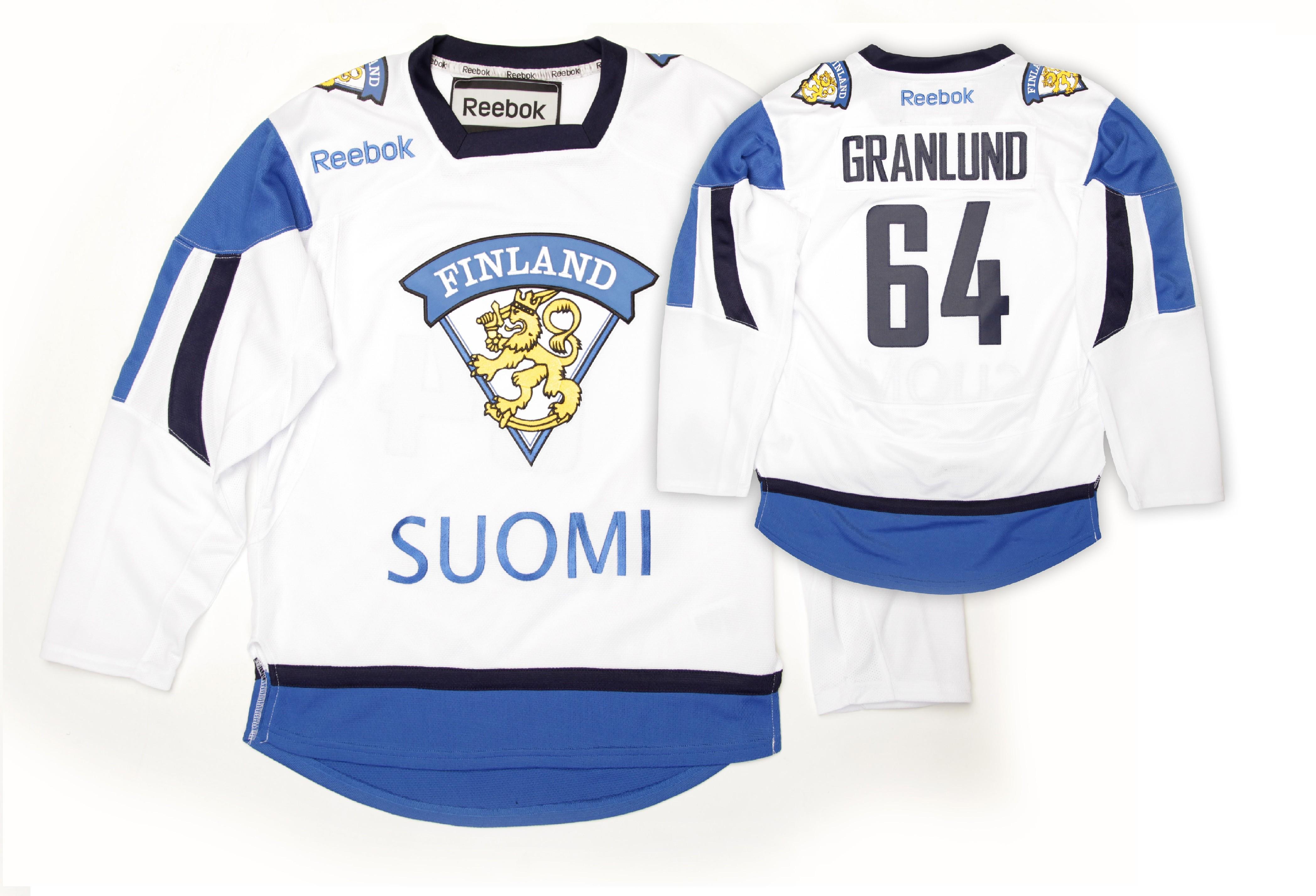 Reebok Team Finland Youth Fan Jersey Away - Granlund